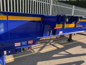2017 Dennison Skeletal Trailer. BPW Axles, Drum Brakes, 14 x Twist Locks, Raise Lower Valve Facility, Pull Out Rear Bumper, Pull Out Couplings, Choice Available.