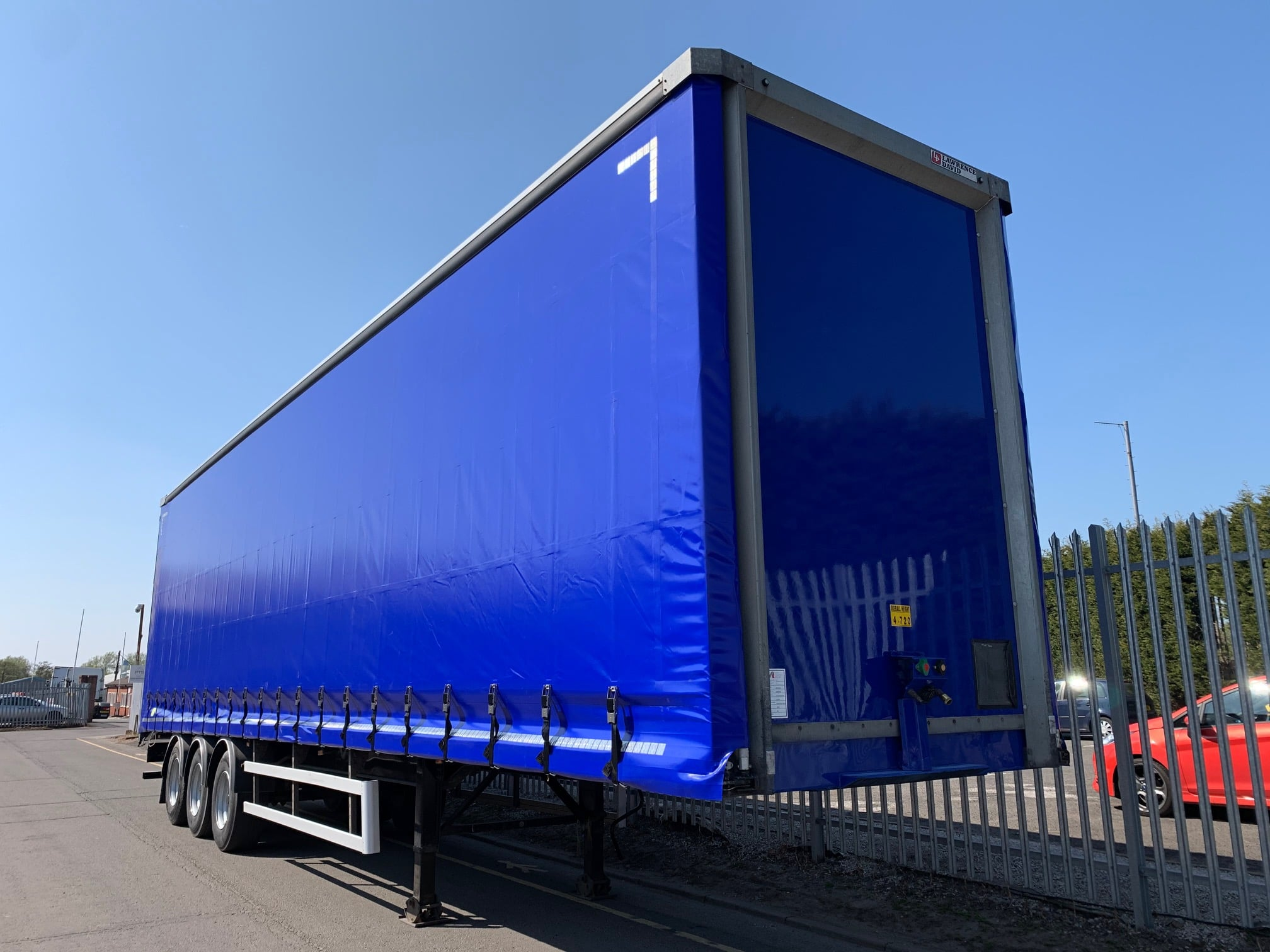 2015 Lawrence David Curtainsider. 4.7m External Height, 3.05m Internal Height, BPW Axles, Drum Brakes, Wisa Deck Floor, Barn Doors, Pillarless, Raise Lower Valve Facility, Supplied with Body Paint, Wheels Painted and New ENXL Rated Curtains, Choice of 4 Available.
