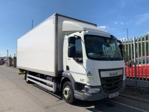 2017 (67) DAF LF Boxvan. 12 Tonne, Euro 6, 180bhp, Anteo Tuckunder Tailift (1500kg Capacity), 24ft Body, Day Cab, Automatic Gearbox, Low Mileage, 2 x Load Lock Rails, Warranty Available.