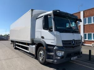 2015 (65) Mercedes Actros 1824 Boxvan. 18 Tonne, Anteo Tuckunder Tailift (1500kg Capacity), Euro 6, 6.70m Wheelbase, Automatic Gearbox, Streamspace Single Sleeper Cab, Radio/USB, Steering Wheel Controls, Warranty Available.