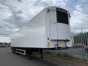 2017 Gray & Adams Fridge Trailer. Carrier Vector 1950Mt Fridge Engine, 4.25m External Height, 2.59m Internal Height, BPW Axles, Drum Brakes, Aluminium Floor, Barn Doors, Rear Steer on Middle & Rear Axles, Raise Lower Valve Facility, Choice Available.