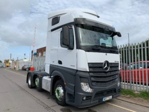 2017 Mercedes Actros 2545, Euro 6, 450bhp, Single Sleeper Cab, Automatic Gearbox, Steering Wheel Controls, Mid-Lift Axle, Air Con, Cruise Control, Low Mileage, Choice & Warranty Available.