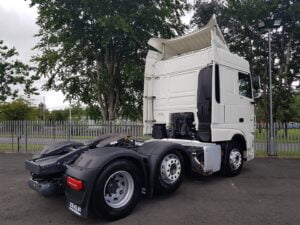 2018 Daf XF. 480bhp, Euro 6, Space Twin Sleeper Cab, Automatic Gearbox, 3.95m Wheelbase, Aluminium Catwalk Infill Panels, Steering Wheel Controls, Mid-Lift Axle, Air Con, Radio/USB, Electrically Heated & Adjustable Mirrors, Colour Coded Front Grill & Mirror Covers, Choice & Warranty Available.