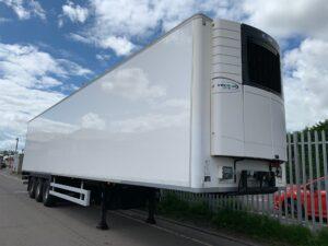 2014 Chereau Dual Temp Fridge Trailer, Carrier Vector 1950Mt Fridge Engine, 2.59m Internal Height, BPW Axles, Drum Brakes, Resin Floor, Barn Doors, 2 x Load Lock Rails, Raise Lower Valve Facility.