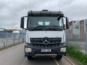 2017 Mercedes Arocs Tipper, 32 Tonne, 400bhp, Euro 6, Automatic Gearbox, Fruehauf Body, Onboard Weigher, Reverse Camera, Day Cab, 6.5m Wheelbase, Low Mileage, Warranty Available.