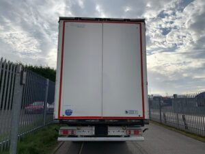 2015 Krone Euroliner, 4.25m External Height off a 1250mm Kingpin, 2.6m Internal Height, BPW Axles, Drum Brakes, Wisa Deck Floor, Flush Doors, 6 x Side Posts with Boards, Raising Roof, Raise Lower Valve Facility, Choice Available.
