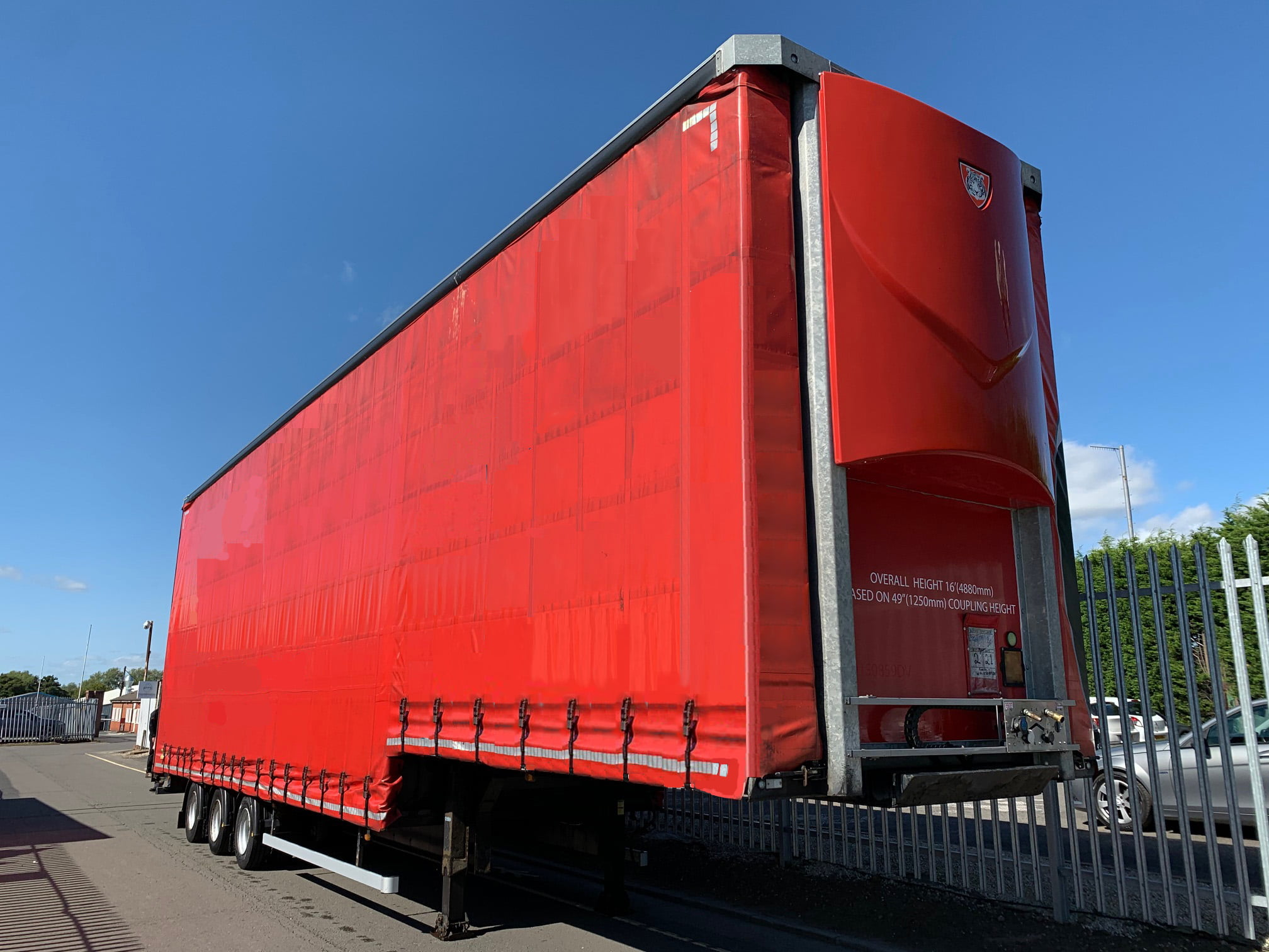 2015 Tiger Stepframe Curtainsider, 4.88m External Height, SAF Axles Drum Brakes, Wisa Deck Floor, Barn Doors, 17.5 Inch Wheels, Fixed Deck, Choice Available.