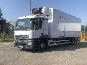 2018 (68) Mercedes Actros Fridge, 18 Tonne, Carrier Supra 1150 Mt Engine, Dhollandia Tuckunder Tailift (2000KG Capacity), Door to Near Side of Body, Single Sleeper Cab, Euro 6, Automatic Gearbox, 240bhp, Low Mileage, Warranty Available.
