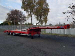 Brand New 2020 Montracon MT45 Machinery Carrier, 13.6m Overall Length, BPW Axles, Drum Brakes, Keruing Floor, 17.5 Inch Wheels, Jost Landing Legs, Raise Lower Valve Facility, Clip on Ramps, Air Assisted Ramp to Neck, Full Manufacturers Warranty Applies.