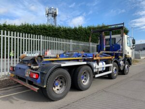 2013 DAF CF85. 360 Hookloader. HIAB Multilift Hook Equipment, 8×4, Euro 5, 360bhp, Day Cab, Automatic Gearbox, Camera System, Steering Wheel Controls, Rear Beacons, Warranty & Choice Available.