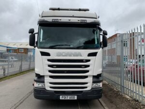 2017 Scania R Series, Euro 6, 450bhp, Highline Double Sleeper Cab, Opticruise Gearbox, FORs Camera System, Rear Lift Axle (TAG), Fridge, Cruise Control, Air Con, Steering Wheel Controls, Low Mileage, Warranty Available.