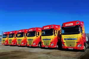 Row of 6 Trans Haul DAF Tractors Lined Up