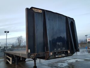 2006 Dennison Timber Spec Flatbed Trailer, ROR Axles, Drum Brakes, Keruing Floor, Posts & Sockets, Storage Tray, 11/21 MOT.