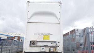 """2013 Don Bur Double Deck Boxvan, 4.86m External Height with Square Front, 13.6m Overall Length, Hydraulic Lifting Decks, BPW Axles, Drum Brakes, 215/75r17.5 Wheels & Tyres, Raise Lower Valve Facility. It has Front & Rear Lifting Decks, The Rear Deck still sits around 10"""" off the Bottom Deck. Front Deck has 1.94m on Top Deck & 1.41m underneath. The Rear Deck has 3.87m of clear aperture to spread the deck between. Choice of 6 at Wolverhampton."""
