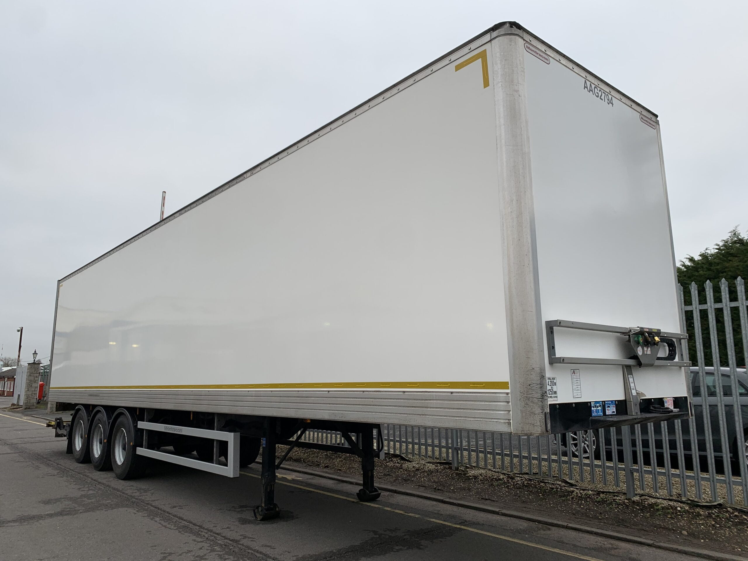 2018 Montracon Box Tailift, 4.2m External Height, BPW Axles, Drum Brakes, Block Floor, Roller Shutter Rear Door, Dhollandia Tuckunder Tailift (1500kg Capacity), Raise Lower Valve Facility, Choice Available.