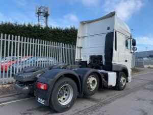 2018 (68) DAF XF, Euro 6, 530bhp, Superspace Double Sleeper Cab, Automatic Gearbox, 4m Wheelbase, Steering Wheel Controls, Fridge, Air Con, Cruise Control, Mid-Lift Axle, Xtra Comfort Mattress, Catwalk Infill Panels, 621,169kms, Choice & Warranty Available, Priced at £39,995 +VAT.