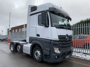2019 Mercedes Actros, Euro 6, 510bhp, Bigspace Single Sleeper Cab, 4m Wheelbase, Mid-Lift Axle, Automatic Gearbox, Air Con, Cruise Control, Steering Wheel Controls, Low Mileage, Choice & Warranty Available.