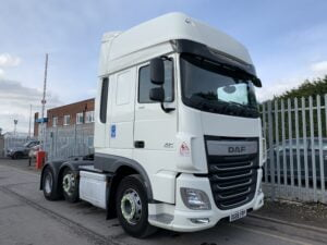 2016 (66) DAF XF Superspace Cab, 460bhp, Euro 6, Superspace Twin Sleeper Cab, 12 Speed AS Tronic Automatic Gearbox, Twin Steer Mid-Lift Axle, 490 Litre Fuel Tank, Aluminium Catwalk Infill Panels, Radio/USB, Steering Wheel Controls, Air Con, Electrically Heated & Adjustable Mirrors, Low Mileage, Choice & Warranty Available.