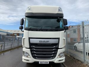 2017 DAF XF, Euro 6, 510bhp, Superspace Twin Sleeper Cab, AS Tronic Automatic Gearbox, 3.95m Wheelbase, Aluminium Catwalk Infill Panels, Steering Wheel Controls, Mid-Lift Axle, Air Con, Radio/USB, Electrically Heated & Adjustable Mirrors, Xtra Comfort Mattress, Low Mileage, Choice & Warranty Available.