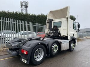 2016 (66) DAF CF, Euro 6, 440bhp, Space Single Sleeper Cab, Automatic Gearbox, 3.95m Wheelbase, Mid-Lift Axle, Aluminium Catwalk Infill Panels, Steering Wheel Controls, Air Con, Cruise Control, Xtra Comfort Mattress, Rear Window in Cab, Choice & Warranty Available.