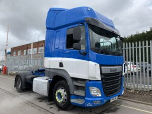 2016 DAF CF, Euro 6, 460bhp, Space Single Sleeper Cab, Automatic Gearbox, Aluminium Catwalk Infill Panels, Steering Wheel Controls, Air Con, Cruise Control, Xtra Comfort Mattress, Fridge, Choice & Warranty Available.