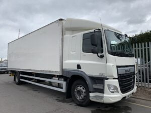 2016 (66) DAF CF Box Tailift, 18 Tonne, 250bhp, Euro 6, Dhollandia Tuckunder Tailift (1500kg Capacity), Automatic Gearbox, Martin Williams 27ft Body, 5.9m Wheelbase, Sleeper Cab, Steering Wheel Controls, Roller Shutter Door, Load Lock Rail, Warranty Options available.