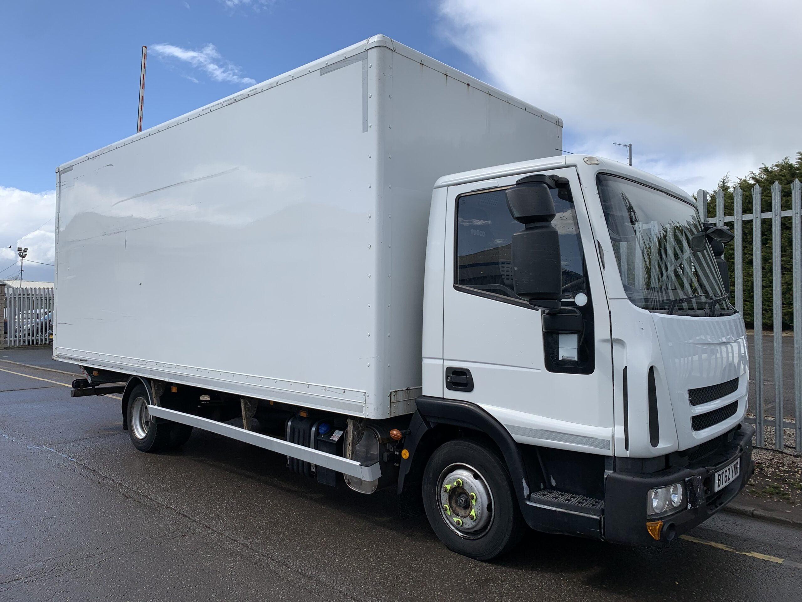 2012 (62) Iveco Euro Cargo, 7.5 Tonne, Euro 5, 160bhp, Anteo Tuckaway Tailift, 6m Body Length, Day Cab, Automatic Gearbox, 302,796km, 2 x Load Lock Rails, Roller Shutter Rear Door.