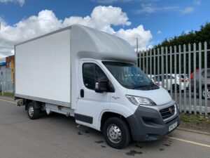 2017 (67) Fiat Ducato Box, Manual Gearbox, Day Cab, 130bhp, DEL Column Tailift (500kg Capacity), Radio/USB, Boxvan Body, Roller Shutter Rear Door, Steering Wheel Controls, Choice & Warranty Available.