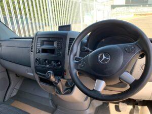 2017 Mercedes Sprinter, Manual Gearbox, Day Cab, 140bhp, DEL Column Tailift (500kg Capacity), Radio/USB, Boxvan Body, Roller Shutter Rear Door, Steering Wheel Controls, Choice & Warranty Available.