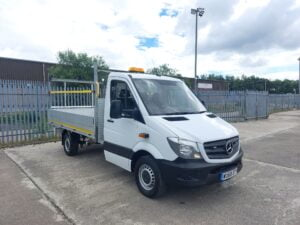 2018 (68) Mercedes Sprinter, 3.5 Tonne Dropside, Manual Gearbox, Day Cab, 140bhp, 63,486 Miles, Steering Wheel Controls, 3 x Seat Cab, Finance Options Available.