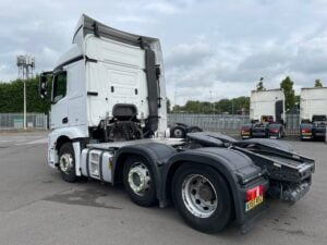 2016 (66) Mercedes Actros, Euro 6, 450bhp, Streamspace Single Sleeper Cab, Mid-Lift Axle, Automatic Gearbox, 4m Wheelbase, Air Con, Cruise Control, Steering Wheel Controls, Low Mileage, Anderson Connector, Choice & Warranty Available.